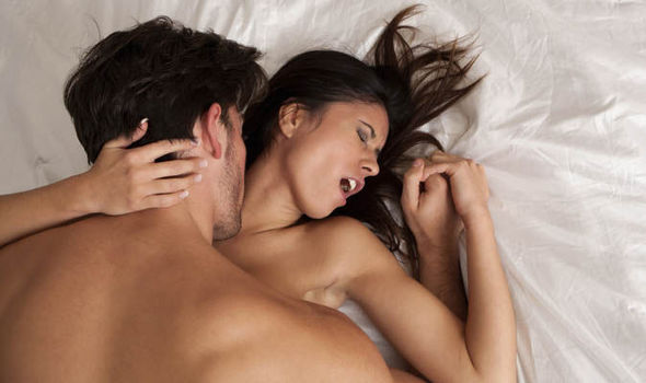 Sexy girl and boy with condom image