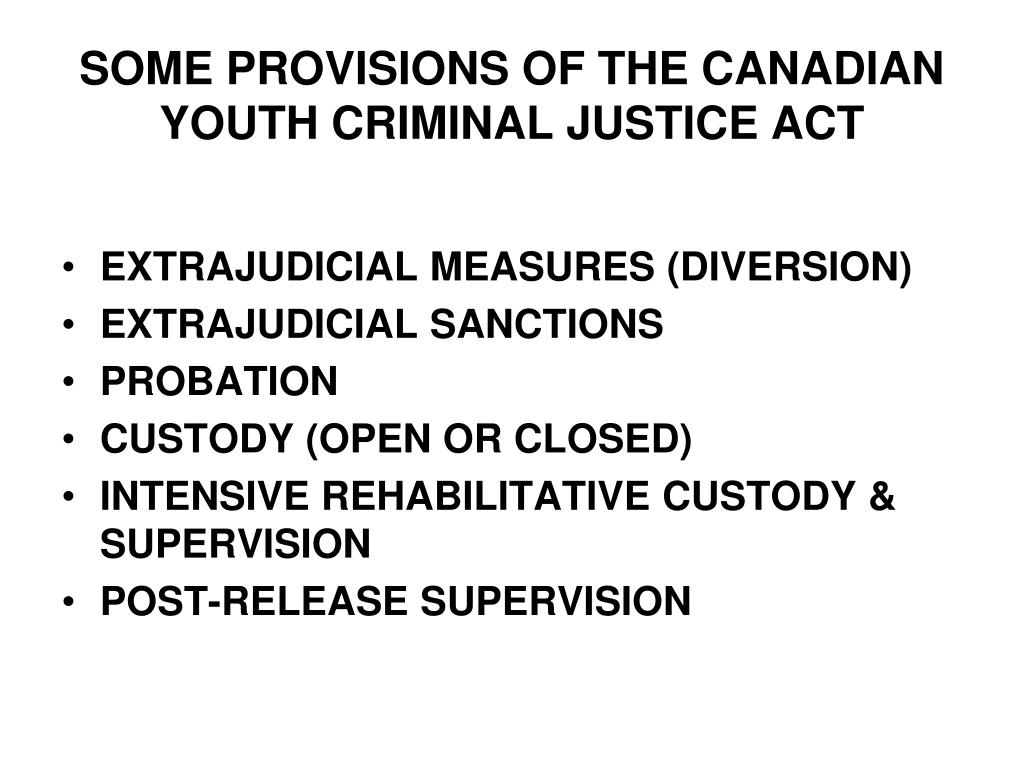 Canada sex offender youth criminal justice act