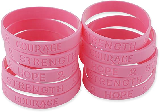 October is breast cancer awareness month wristband