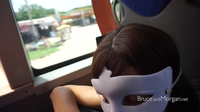 Piss drinking and blowjob in the bus