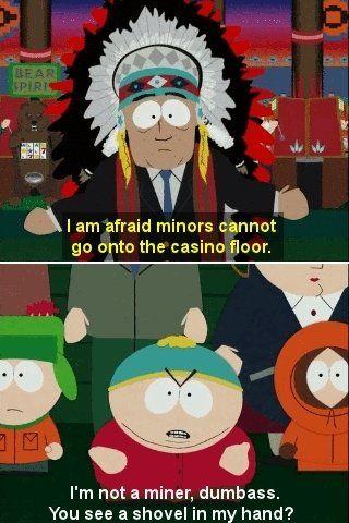 Cartman thinks he is an asian whore