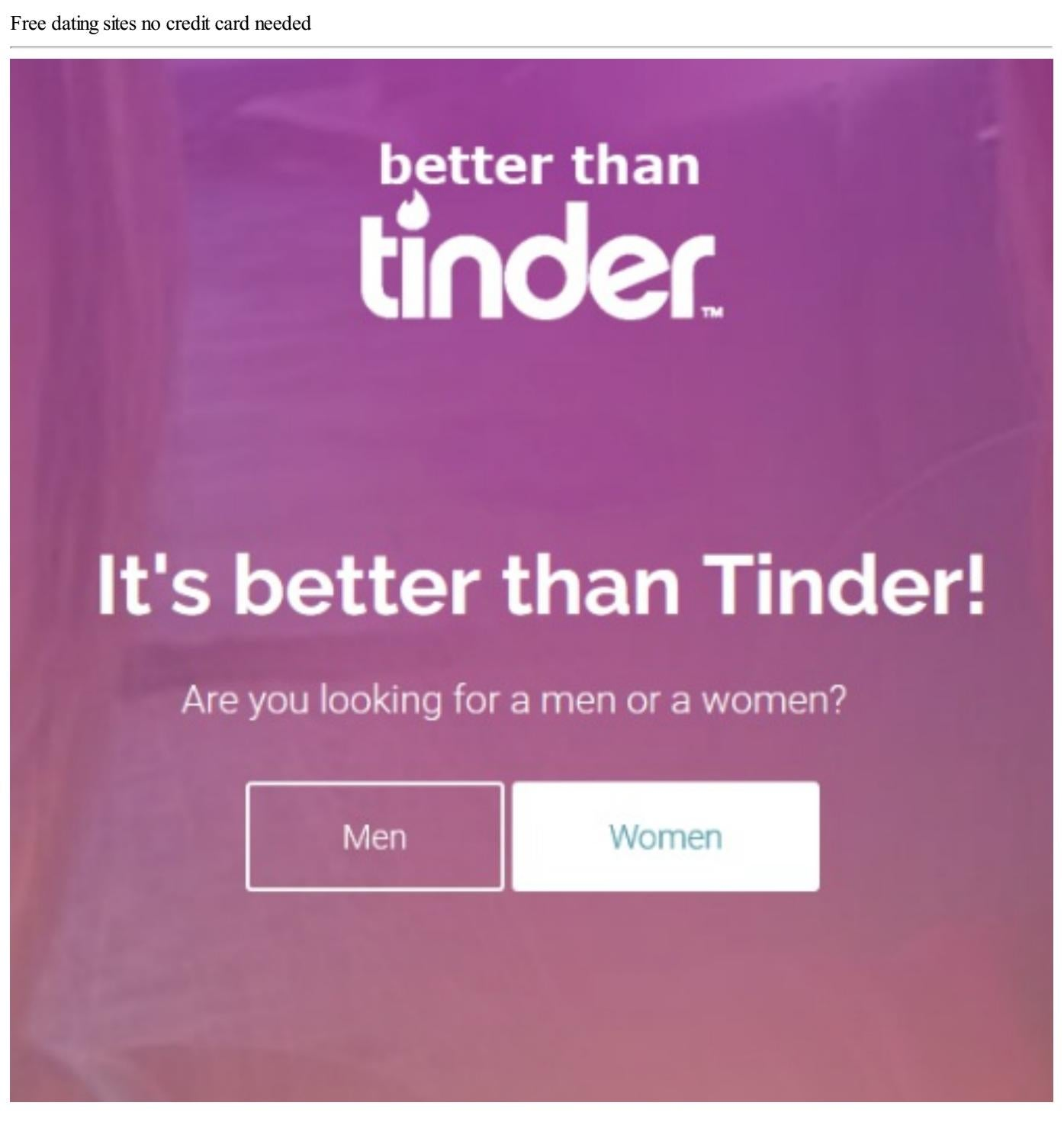 Any free dating site without credit card