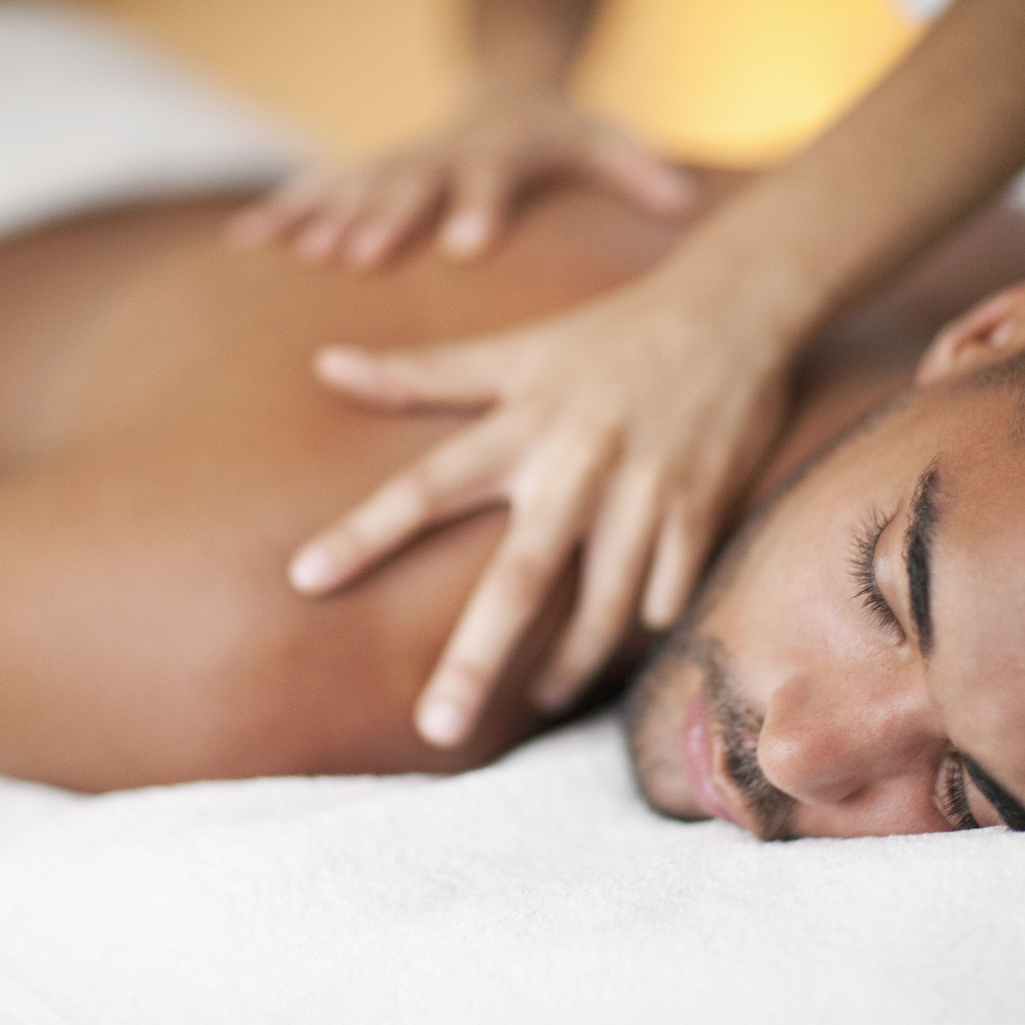 Back bra massage naked nude oil topless