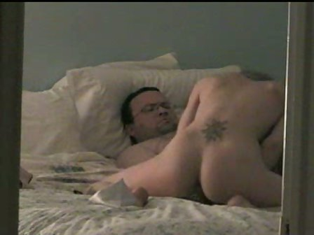 Husband and wife sex in bed room