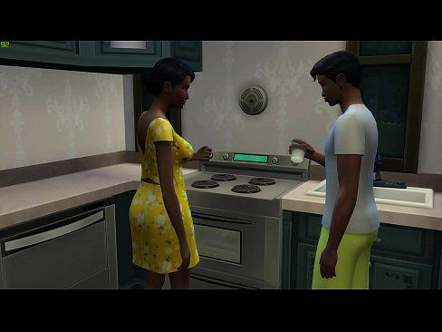 Ebony black mom and black son porn