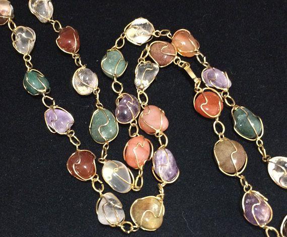 Vintage oval rose aventurine gold stone glass