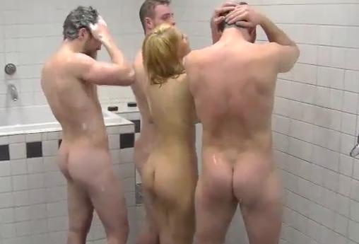 Nude girls car in the locker room