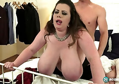 Chubby amateur brunette anna huge natural tits