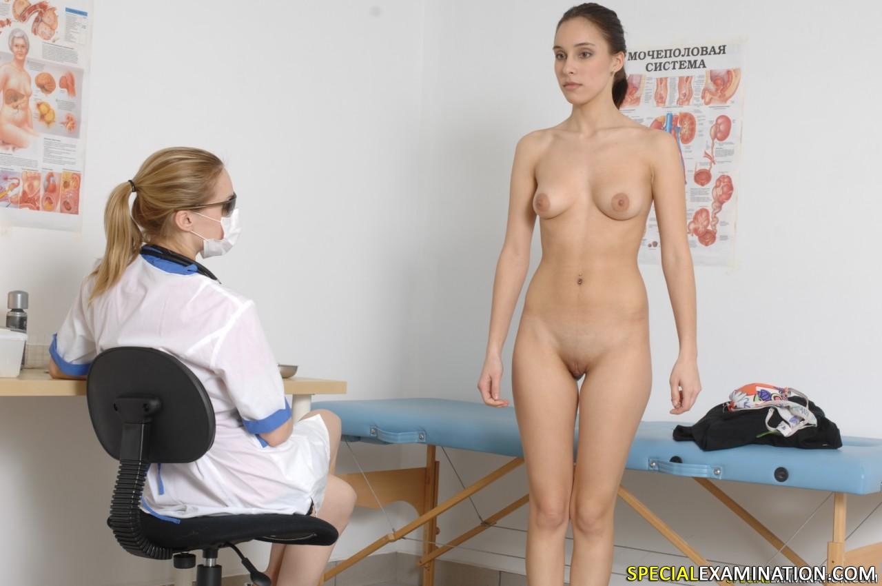 Coy examination fetish lady medical nude story