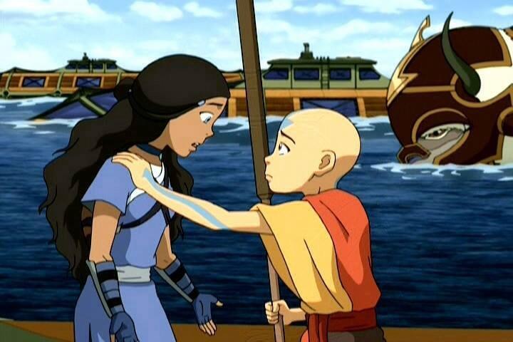 Avatar the last airbender aang and katara