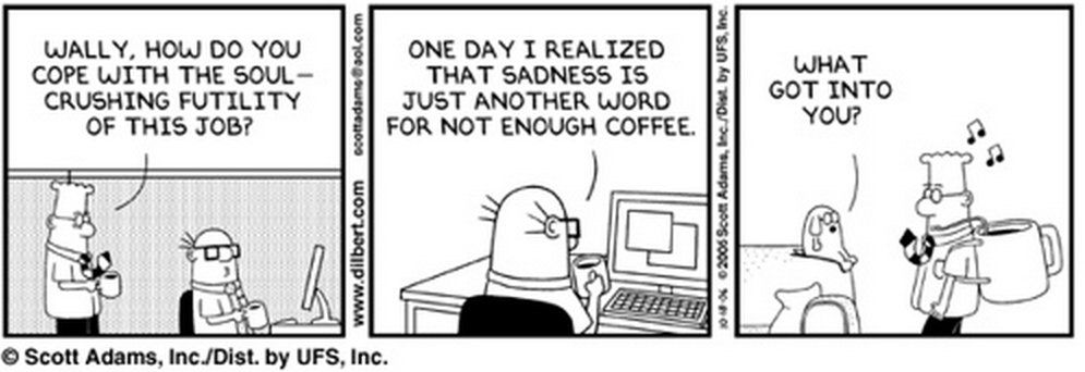 Coffee break comic strip in appendix b