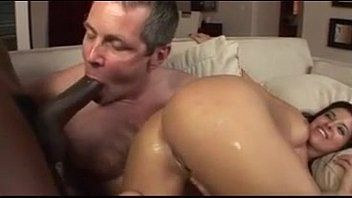 Swinger wife makes husband suck a dick