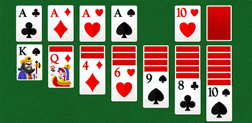 Bottom card game play screen shape solitaire
