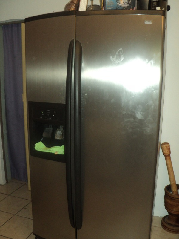 Side by side with bottom freezer refrigerator