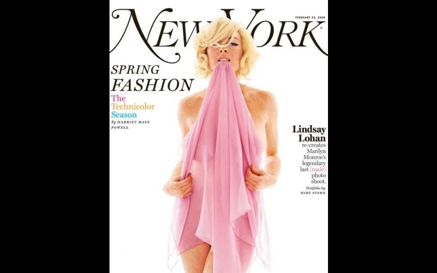 Lindsey lohan poses nude fornew york magazine
