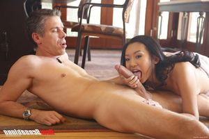 Pantyhose mom fingering under the table son