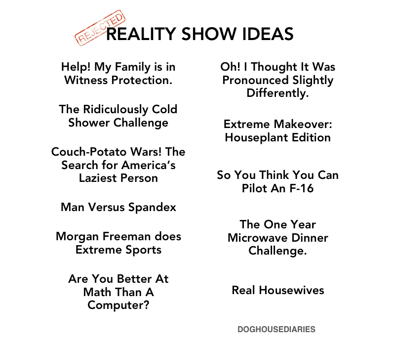 My idea for a new reality show