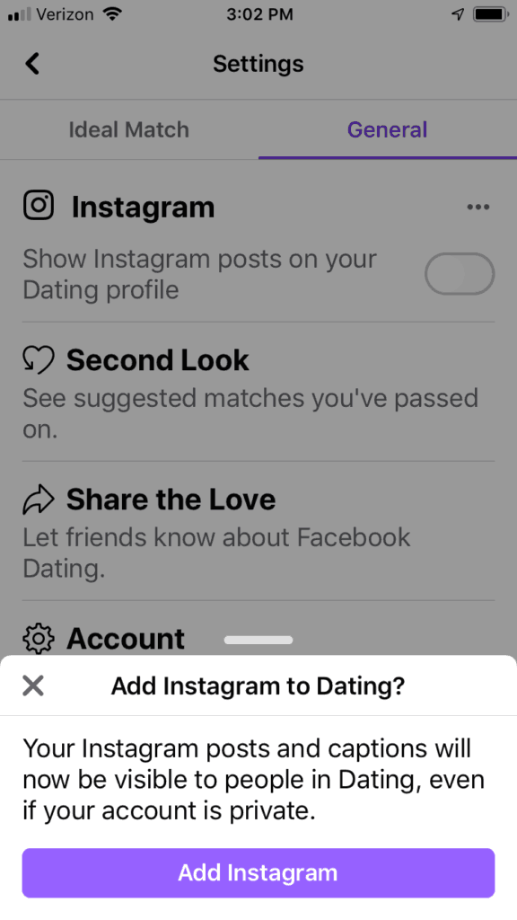 What is the facebook dating site called