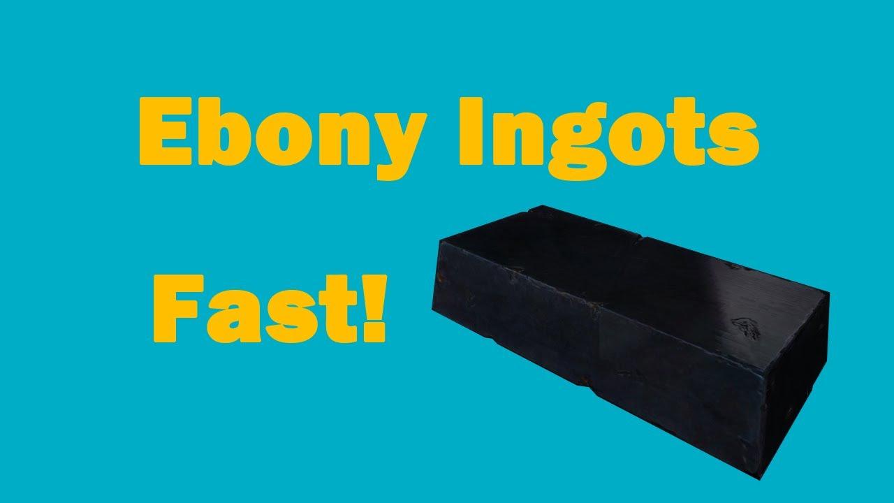Skyrim how to get ebony ingots fast