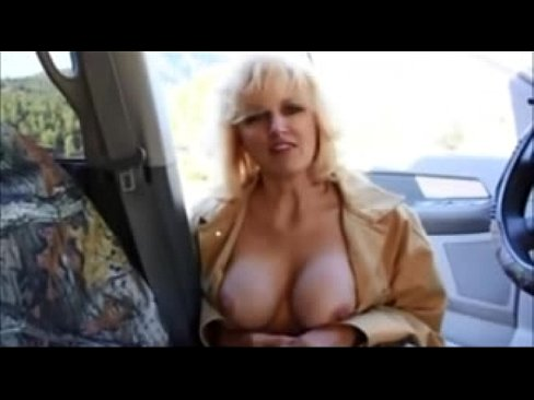 Transgender prostitute with nice tits giving blowjob