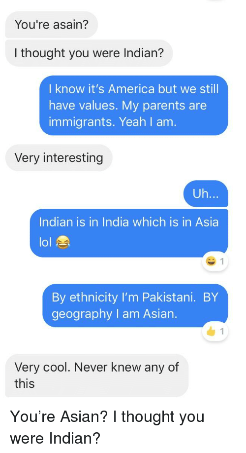 I am asian and i know it