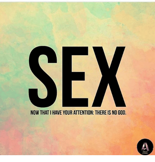 Sex now that we have your attention