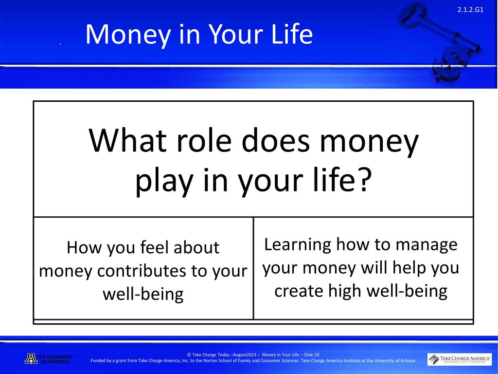 What role play money in our life