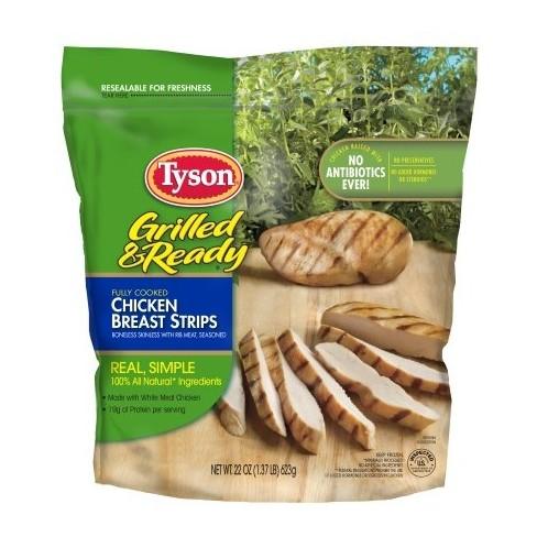 Tyson s grilled ready chicken breast strips
