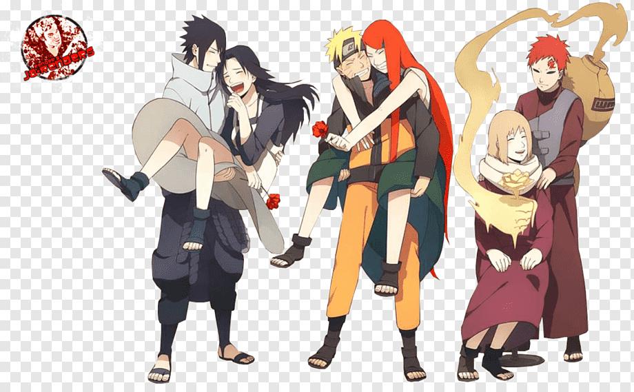 Sasuke and sakura and naruto and hinata