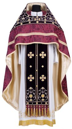 As by priest silk strip vestment worn