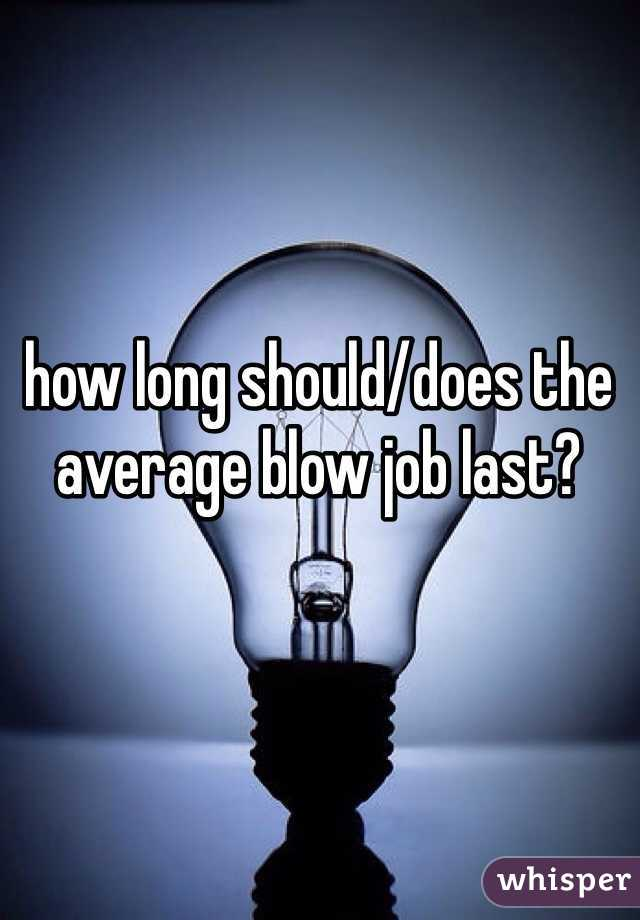 How long should a blow job last