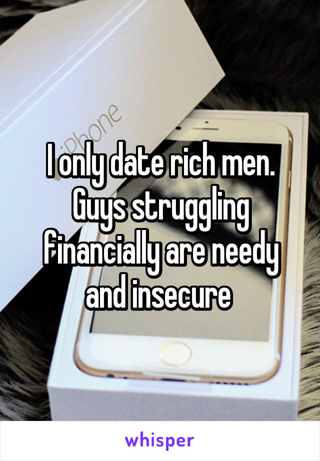 Dating a man who is struggling financially