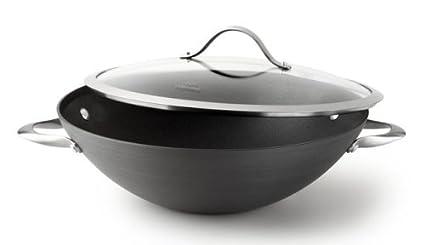 Calphalon one infused anodized flat bottom wok