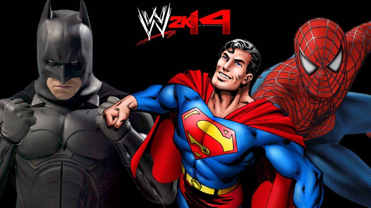 Spiderman vs hulk vs batman vs superman