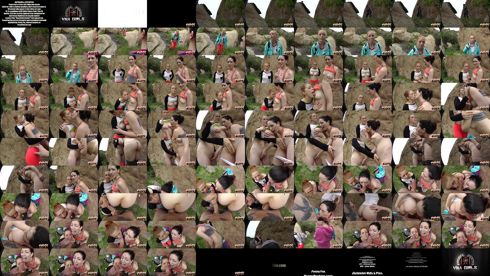 Amazing hiking pov threesome with penny pax