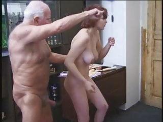 Grandpas getting a blowjob by mature women