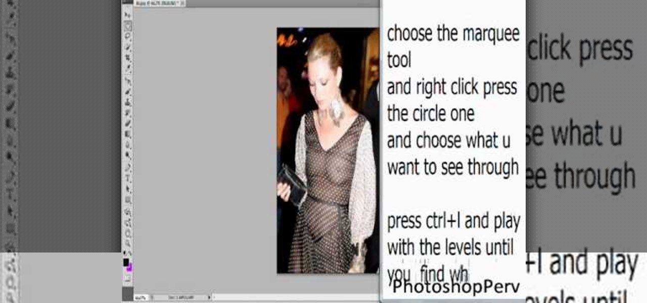 How to see through clothes with photoshop