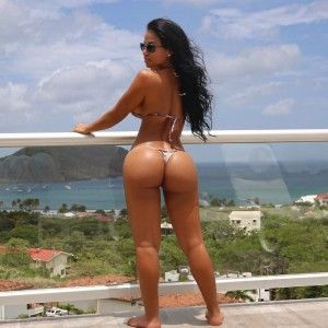 Hot panties of fit athletic girl naked