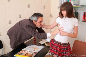 Mature woman seducing young girl intern lesbian