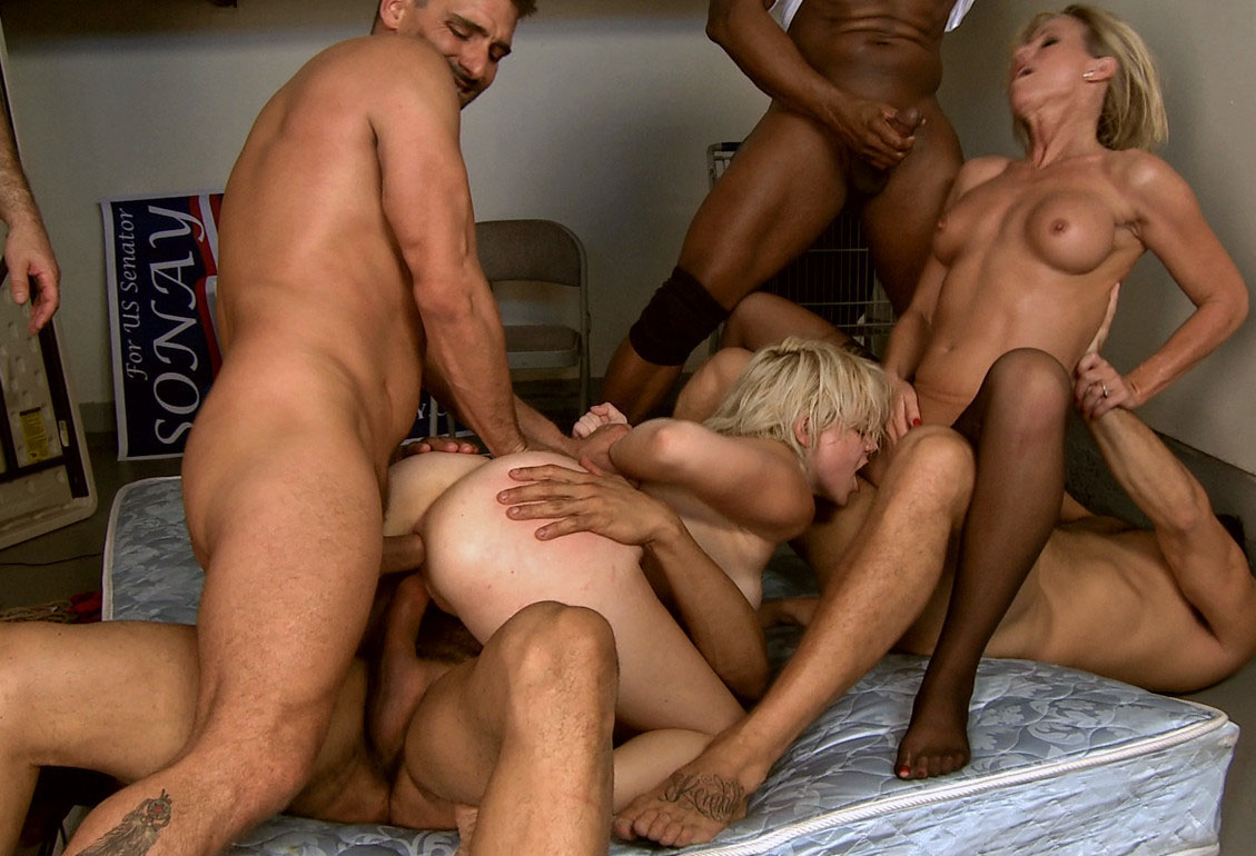 Single girl fucked by group of men