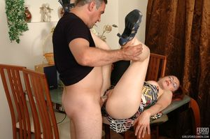 Incredible dp scene with blowjobs stockings scene