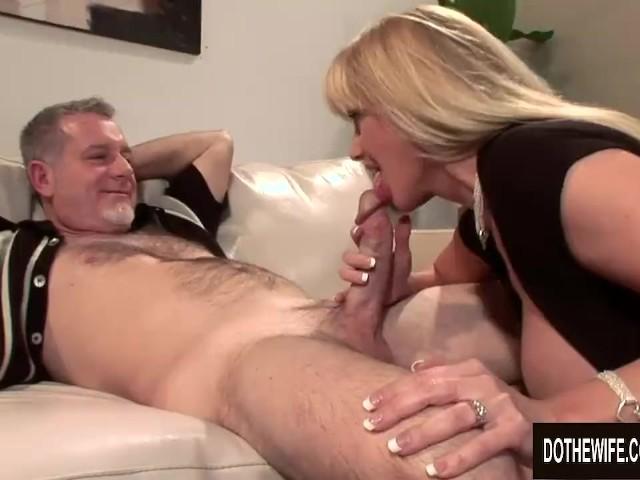 Husband fucks slut in front of wife