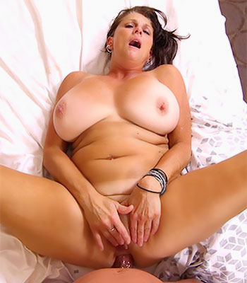Huge natural mom tits from behind porn