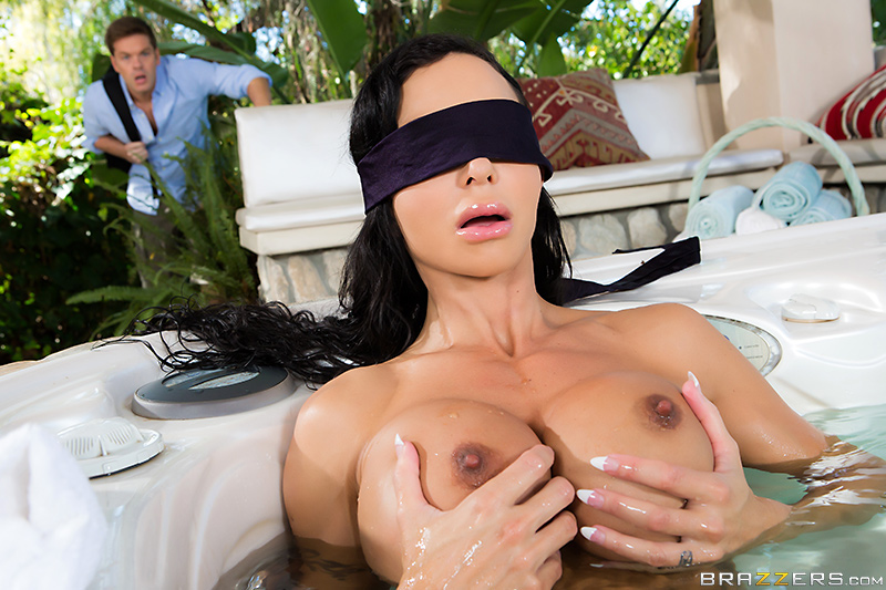 Best friends mom blindfold by pool porn