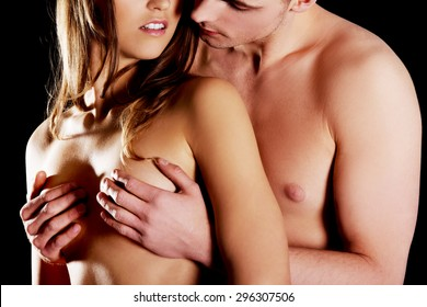 How to grab a woman s breast