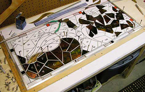 Lead strip used in stained glass windows