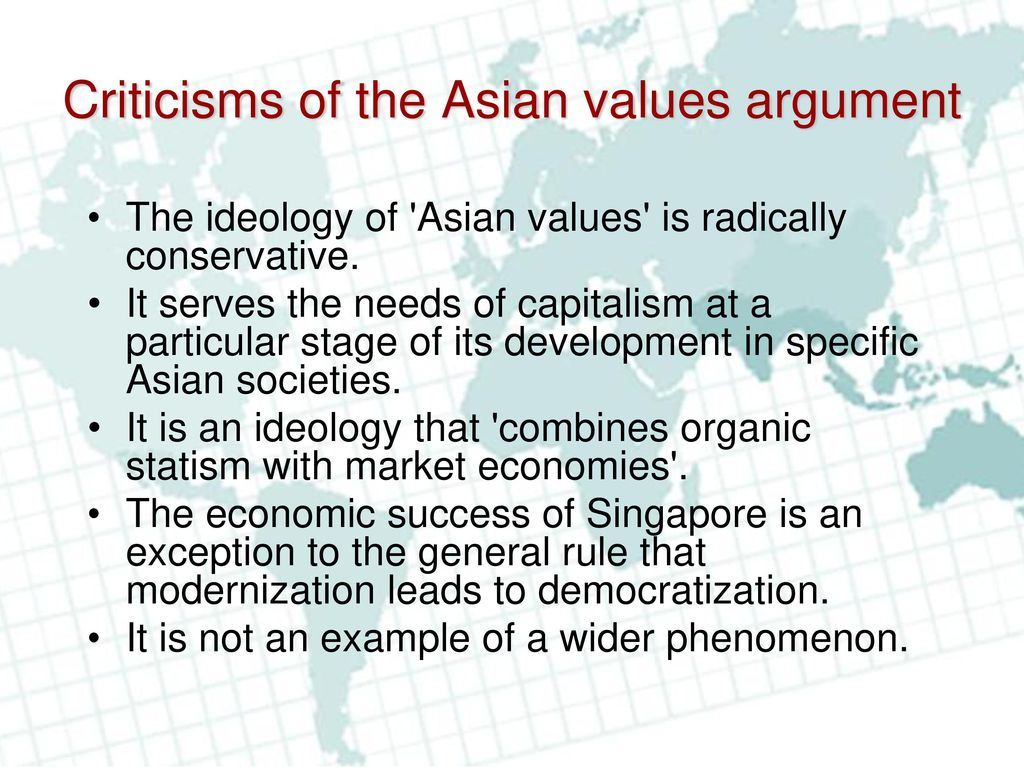 Asian values and it s economic success
