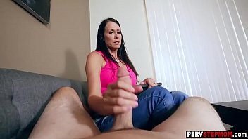 Lingerie and heels stepmom blowjob and swallow