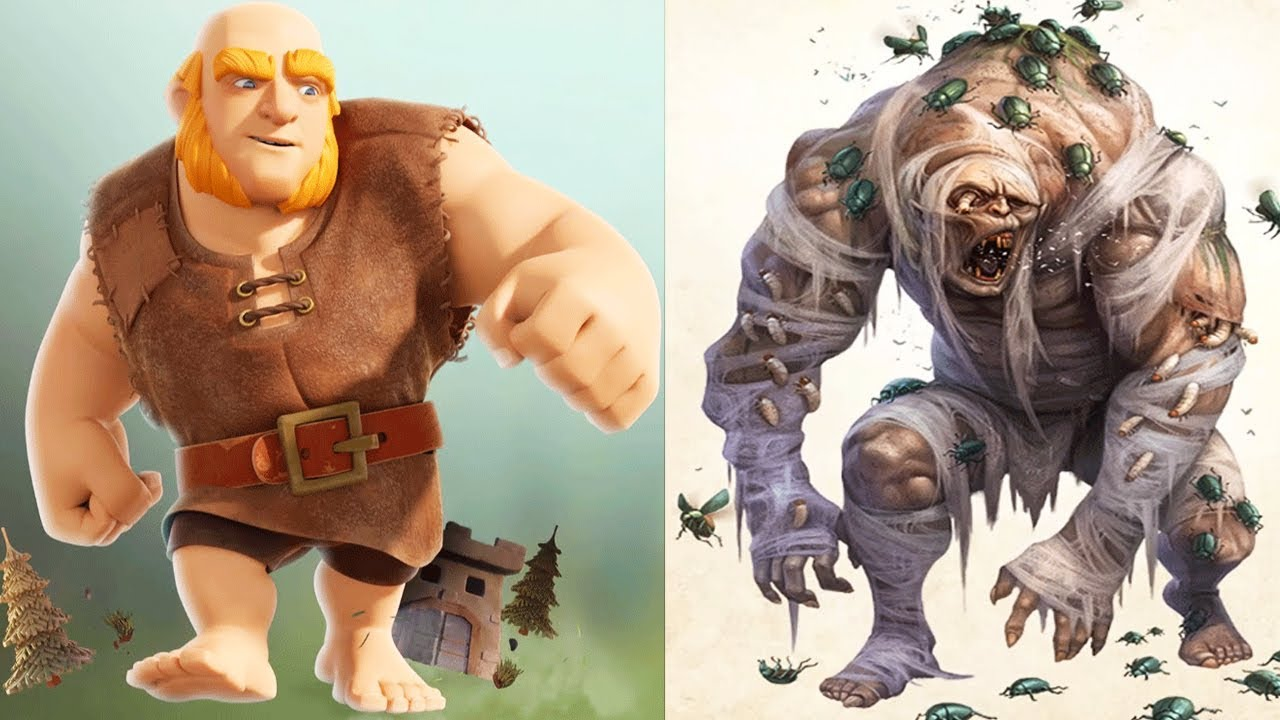 Clash of clans characters in real life