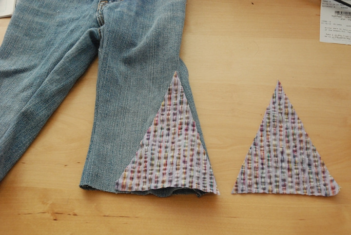 Adding fabric to the bottom of pants